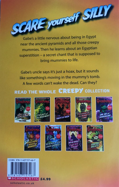 Teen Fiction Goosebumps Return Of The Mummy By R L Stine
