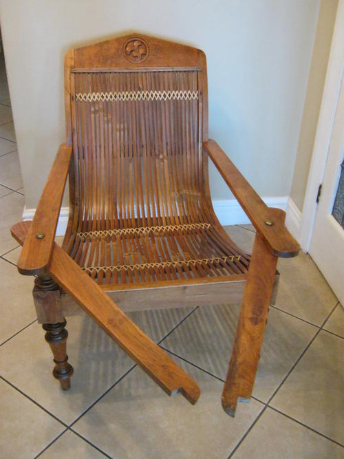 Chairs, Stools & Footstools - Colonial Plantation Chair with Bamboo Back  and Seat and Brass Bolts was listed for R8,000.00 on 20 Jun at 14:46 by  Island ... - Chairs, Stools & Footstools - Colonial Plantation Chair With Bamboo
