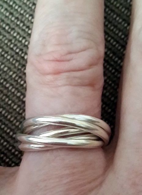 Rings 925 STERLING SILVER 5 BAND RUSSIAN WEDDING RING was sold for