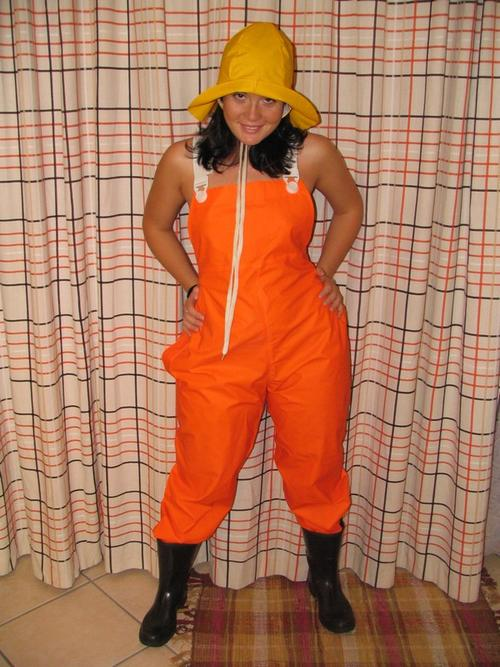 Other Clothing Shoes Amp Accessories Orange Pvc Bib Pants