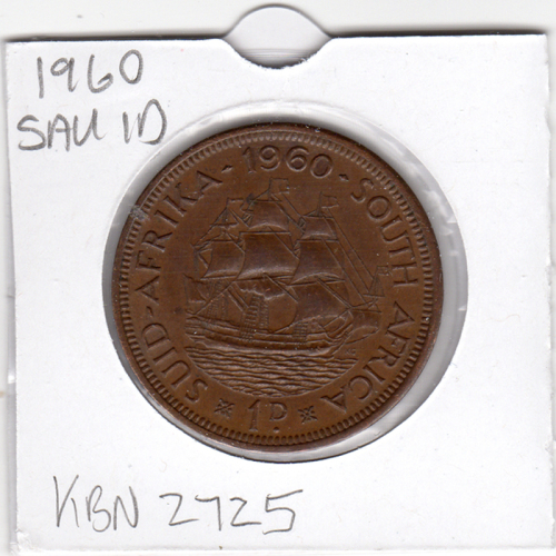 Penny - 1960 Union Of South Africa - 1 Penny - 1D - In 2 x 2