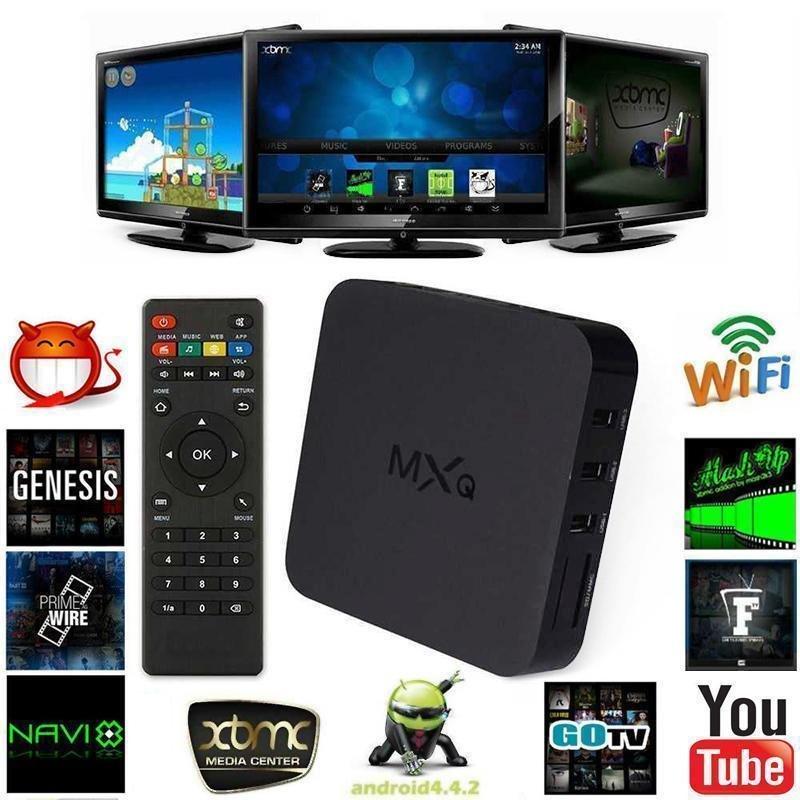MXQ OTT Android TV BOX | FULL HD | NETFLIX / YOUTUBE/ FACEBOOK /TWITTER/  DLNA/MIRACAST/AIRPLAY