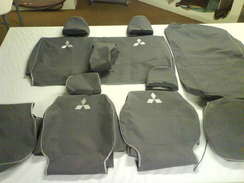 Seat Covers - 11 Piece Canvas Seat Covers for Mitsubishi