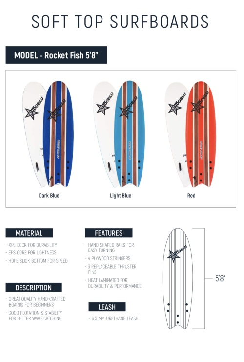 Surfboards surfboard soft top surfboard rocket fish for Best fish surfboard