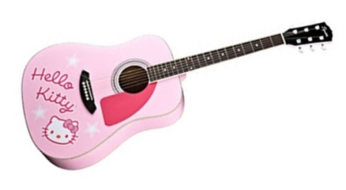 acoustic electric fender squier hello kitty acoustic guitar as new was sold for on. Black Bedroom Furniture Sets. Home Design Ideas