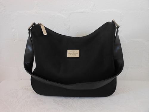 Dkny Designer Black Nylon Shoulder Tote Bag Handbag