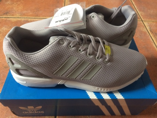 new concept 0e8ee 634cc Adidas Mens ZX Flux Sneakers Grey UK 12