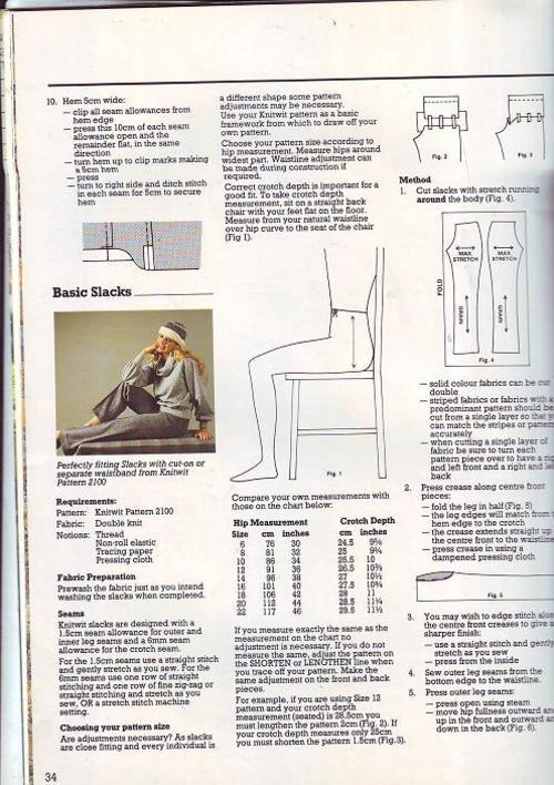 Crafts & Hobbies - Knitwit (classes,fabrics &patterns)intructional ...