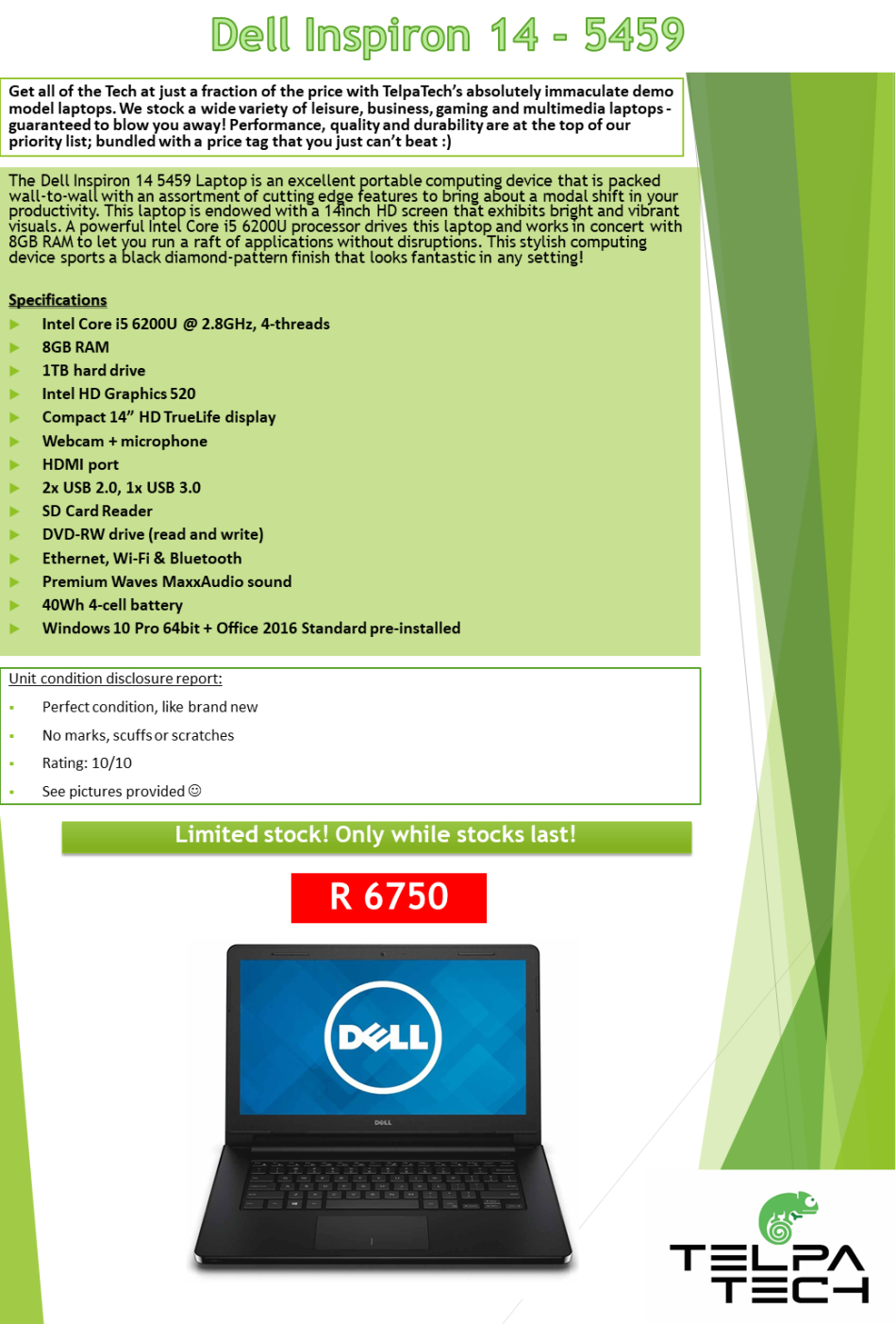 Laptops & Notebooks - CLEARANCE SALE: Dell Inspiron 14