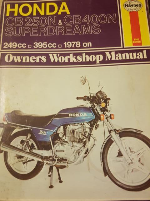books manuals literature honda cb250n cb400n superdreams rh bidorbuy co za cb400n workshop manual Honda CB500T