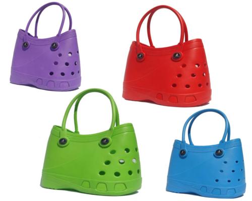 Lubber Tote Rubber Croc Waterproof Beach Bag