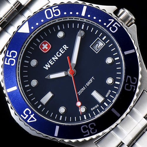 Men S Watches Wenger Swiss Military 200m Aqua Diver Mens