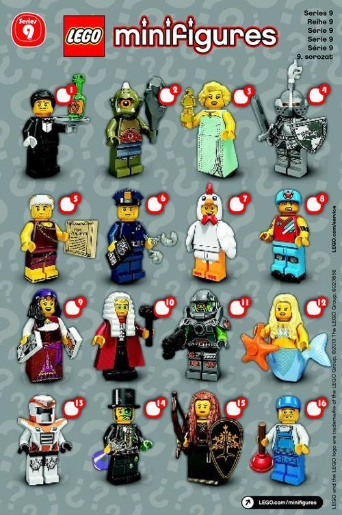 LEGO Minifigures - Series 9 Minifigure Checklist - Lego ...