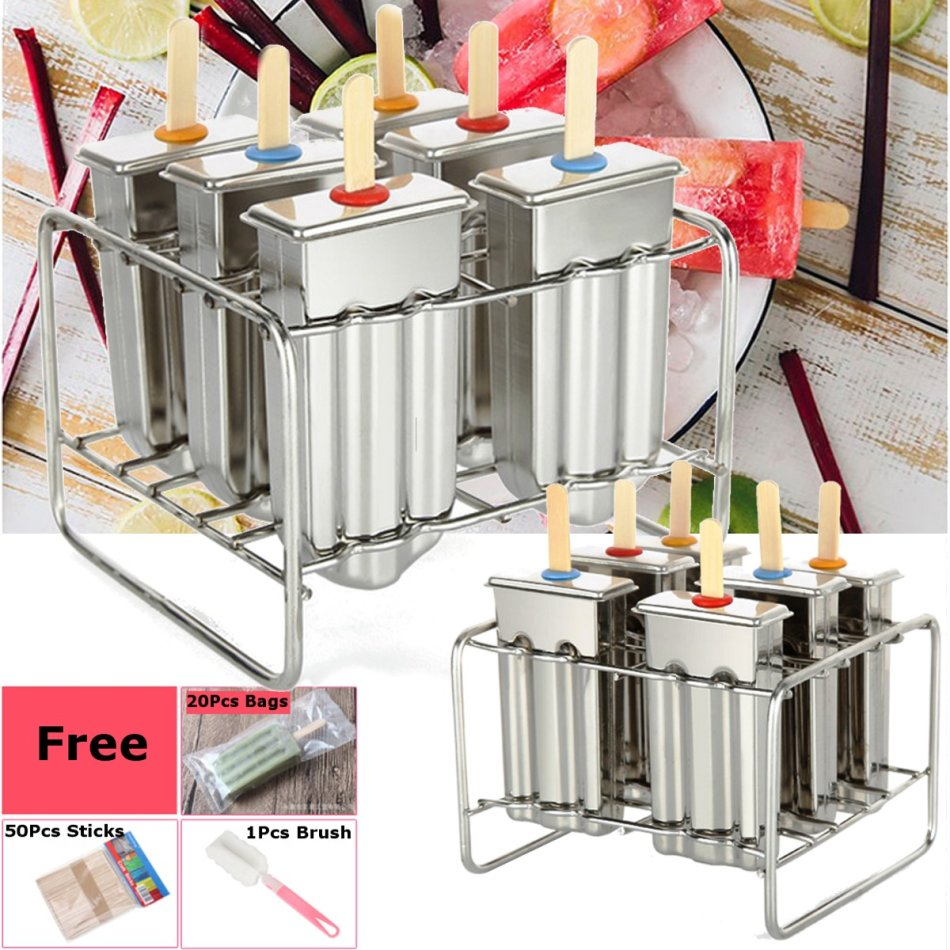 Other Kitchen Tools 6 Cell Frozen Ice Cream Pop Mold