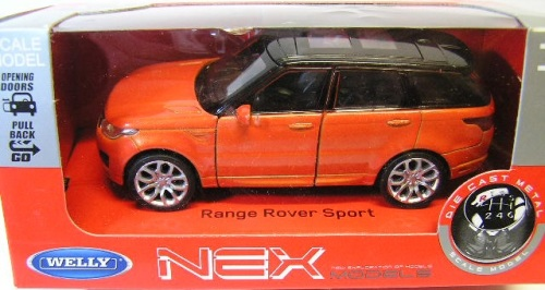 Welly 1:36 Land Rover Range Rover Sport Metal Diecast Model Car New in Box Black