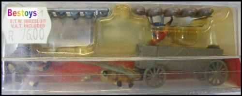 Merten Model 2497 Horse drawn box cart boxcart + figures + milk cans bales  1/87 HO railway scale