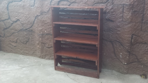 Very Old Painted Wooden Bookshelf