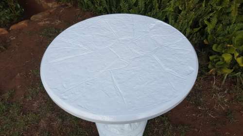 Tables - Beautiful round solid concrete garden table  was