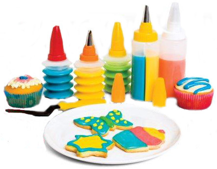 Cake Decorating Cookie Cupcake Decorating Kit Set of 5 was