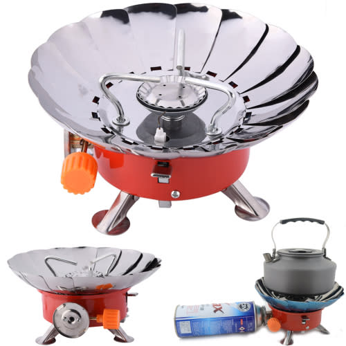 Stoves burners gas cylinders windproof camping stove Propane stove left on overnight