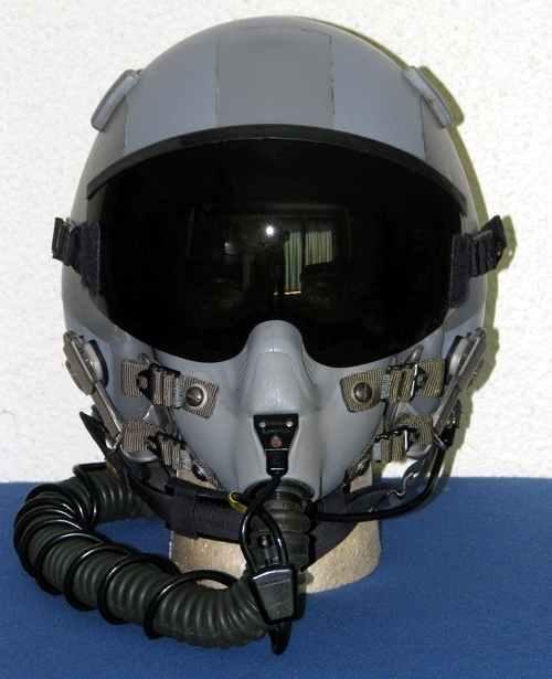 Fighter Pilot Helmet - HGU-55/P with MBU-12 Mask