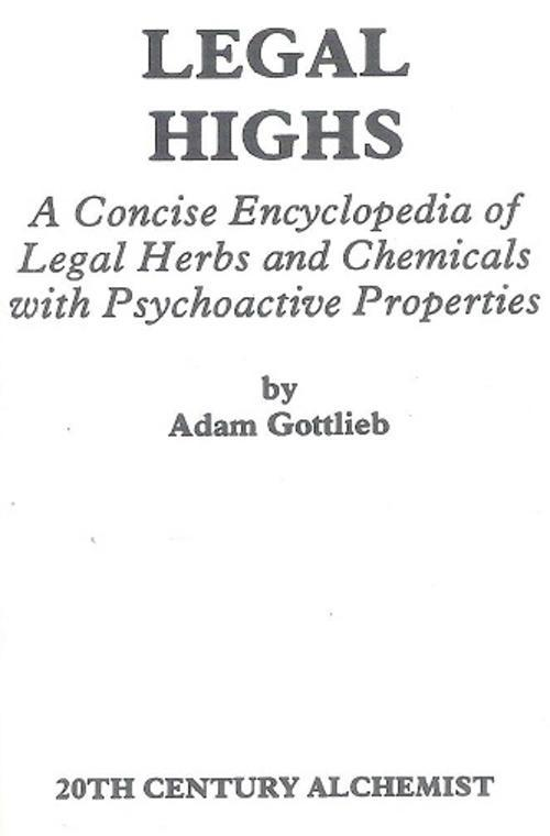 Medicine - Legal Highs - By Adam Gottlieb was sold for R70 00 on 5