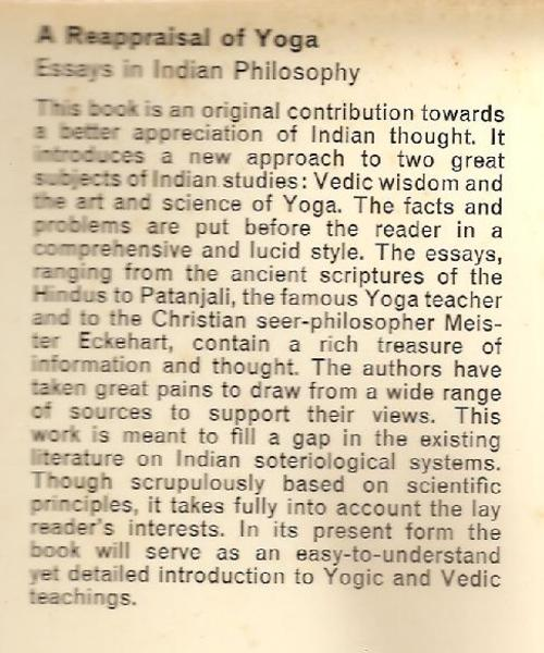 philosophy religion spirituality a reappraisal of yoga  overseas customers can contact us for a postage quote