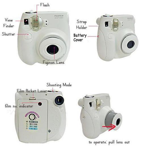 Instant Polaroid Fuji Instax Mini 7s Walt Disney