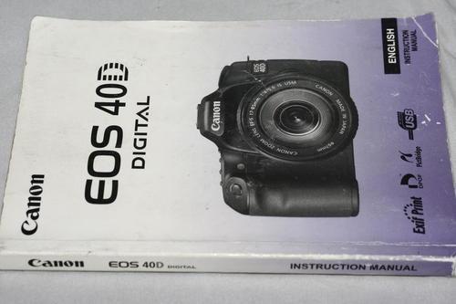 Canon EOS 40D Instruction Manual