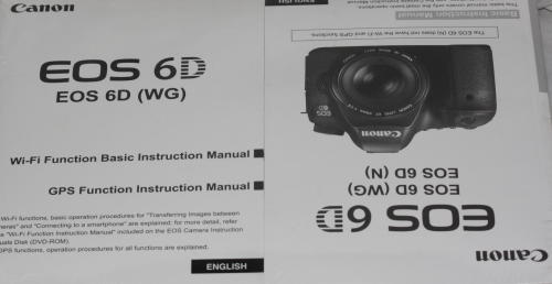 Other Photo Video Canon Eos 6d Instruction Manual Cd Pack Was