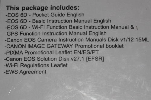 Other Photo & Video - Canon EOS 6D Instruction Manual & CD