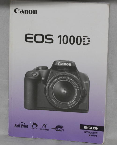 other photo video canon eos 1000d instruction manual for sale in rh bidorbuy co za Canon XS Manual PDF Canon EOS Rebel XS 1000D