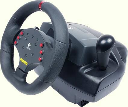 67680e119aa Joysticks - Logitech MOMO Force Feedback USB Racing Wheel w/Pedals ...