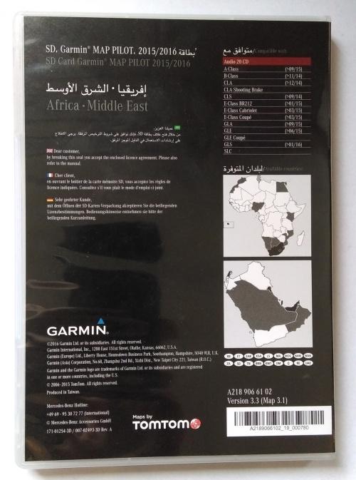 Mercedes-Benz SD Garmin MAP PILOT 15/16 Africa Middle East A2189066102
