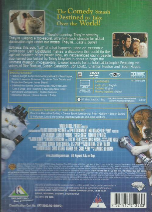 Movies - Cats & Dogs (DVD) for sale in Johannesburg (ID:423836340)
