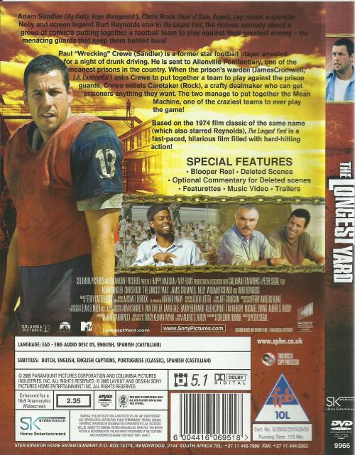 Movies - The Longest Yard (DVD) was listed for R50 00 on 30 Dec at