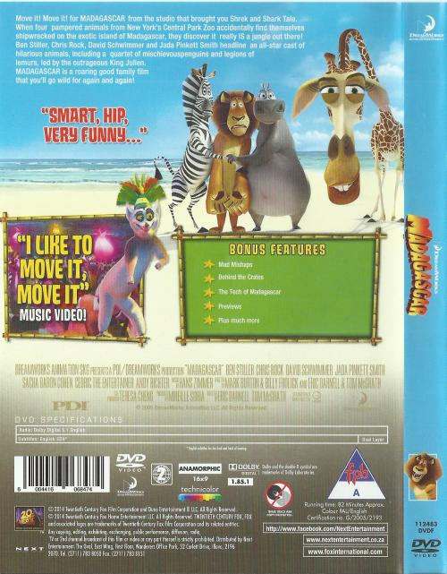 Movies - Madagascar (DVD) was listed for R30 00 on 16 Jun at 07:01