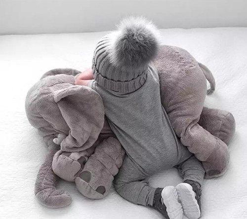 Other Toys New 60x50x28cm Elephant Pillow Toy Cuddle