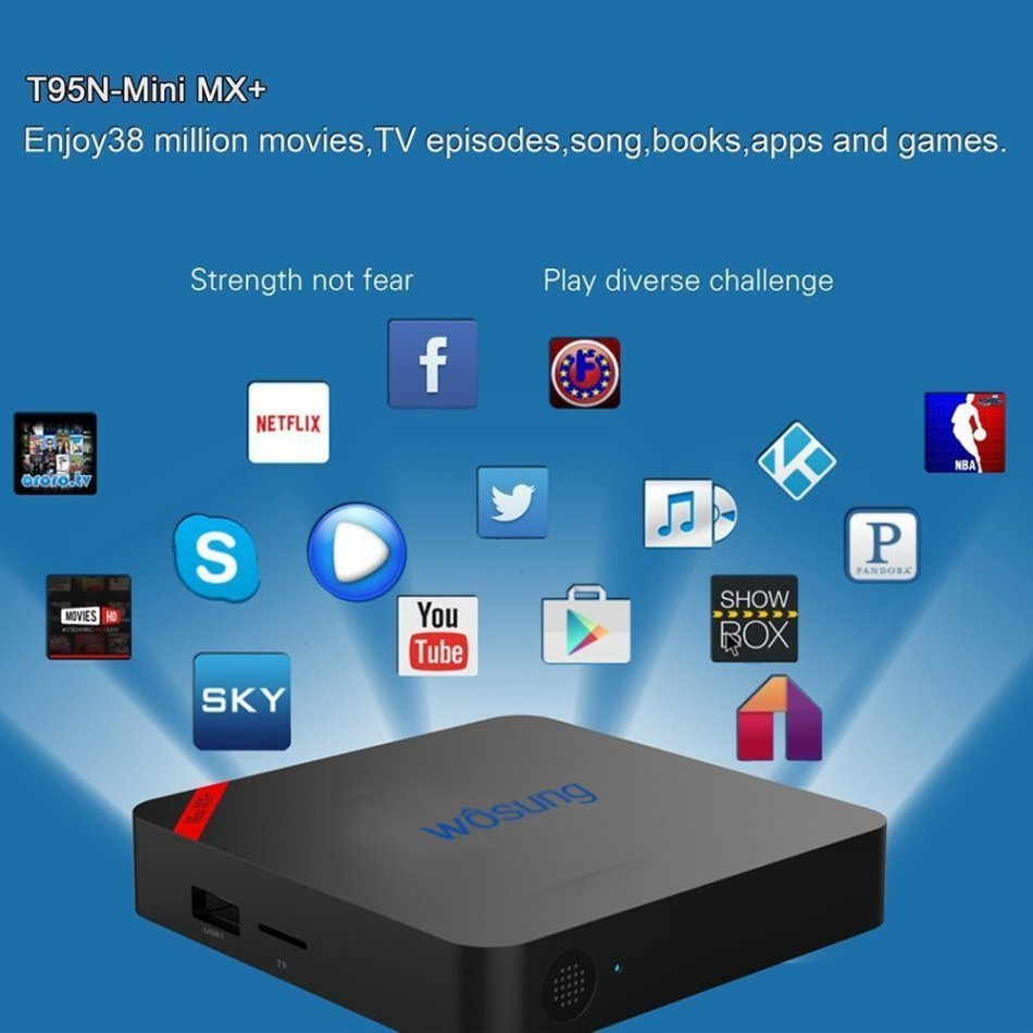 Digital Media Players & Streamers - TV BOX Android 6 0 T95N WOSUNG