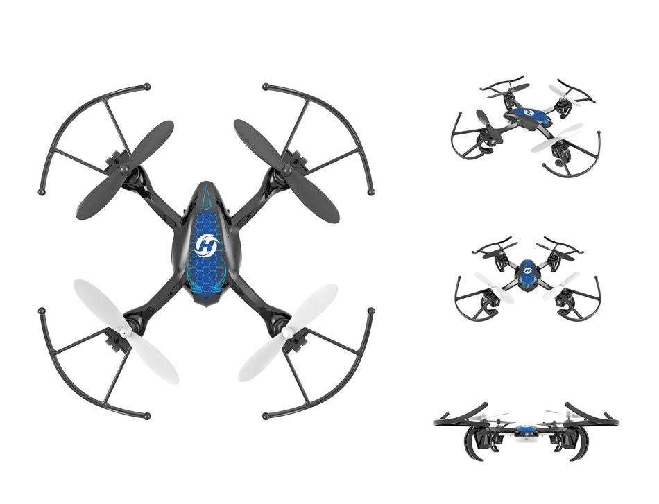 Drones - HS170 Predator Mini RC Helicopter Drone 2 4Ghz 6-Axis Gyro