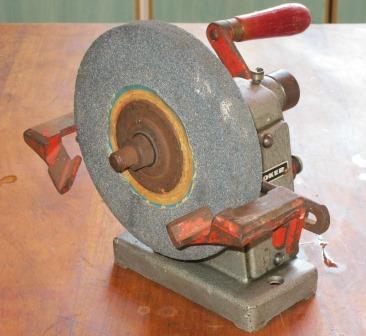 Appliances Vintage Industrial Hand Crank Bench Grinder