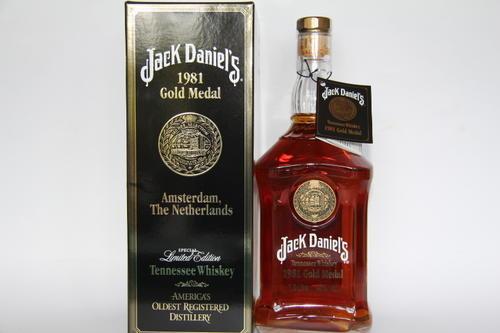 jack daniels 1981 gold medal whiskey