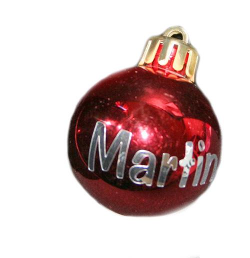 Christmas Balls With Names