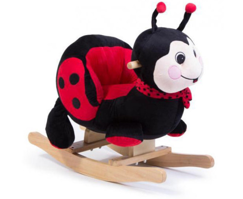 ride on 2 in 1 plush animal rocker ride on ladybug was listed