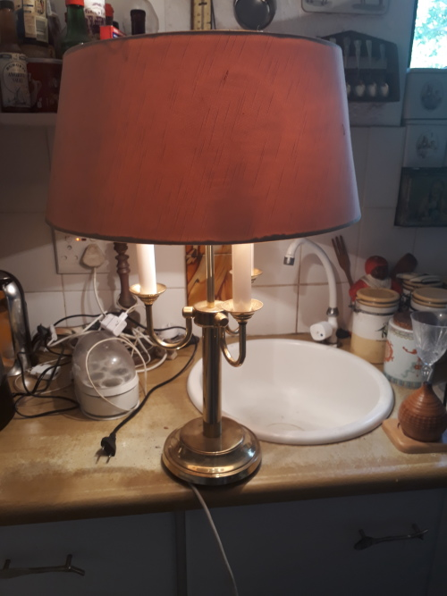 Lamps Amp Lanterns Vintage Brass Look Heavy Three Armed