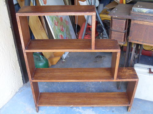 Bookcases very nice small solid wood ladder type of for Types of bookshelves