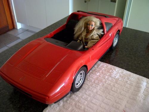 Vintage Toys Barbie Ferrari Made In France By Mattel In