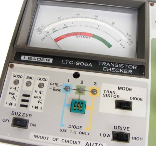 Test equipment vintage leader transistor testerchecker more audioelectronic test equipment will be listed during the coming few weeks so please have a look fandeluxe Choice Image