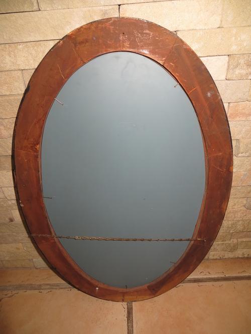 Frames & Mirrors - ANTIQUE OVAL TIGER STRIPED WOOD FRAMED ...