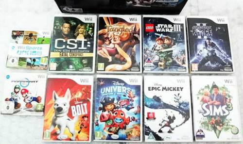[BARGAIN] NINTENDO WII BLACK 25th ANNIVERSARY MARIO KART Wii PACK EDITION  WITH GAMES BUNDLE ETC